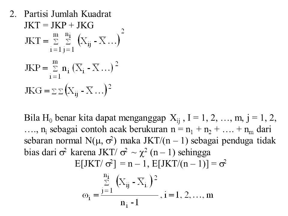 E[JKT/ 2] = n – 1, E[JKT/(n – 1)] = 2